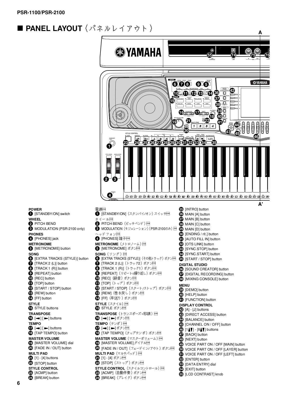 PDF manual for Yamaha Music Keyboard PSR-2100